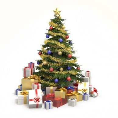8350431-fully-decorated-christmas-tree-with-many-presents-and-isolated-on-white-background